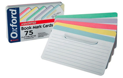 Bookmark index card